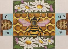 click here to view larger image of Bee Brick Cover   (hand painted canvases)
