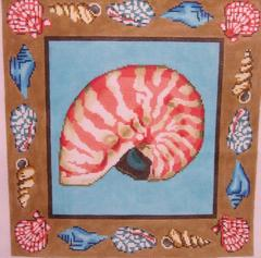 click here to view larger image of Nautilus Pillow (hand painted canvases)