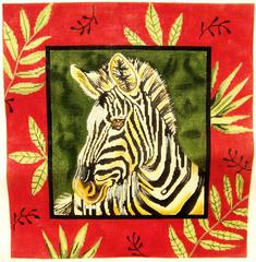 Zebra Pillow - click here for more details about this hand painted canvases