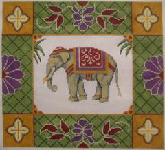 Elephant Pillow - click here for more details about this hand painted canvases
