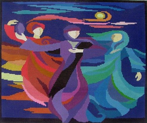 Dancing Miriam - click here for more details about this hand painted canvases
