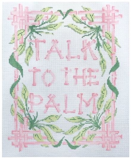 click here to view larger image of Talk to the Palm (hand painted canvases)