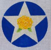 Texas Ornament - Yellow Rose - click here for more details