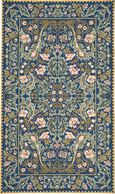 click here to view larger image of Acanthus Rug (needlepoint kits)