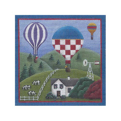 click here to view larger image of Country Balloons (hand painted canvases)
