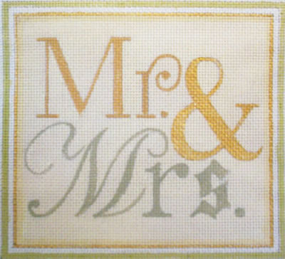click here to view larger image of Mr. & Mrs. (hand painted canvases)