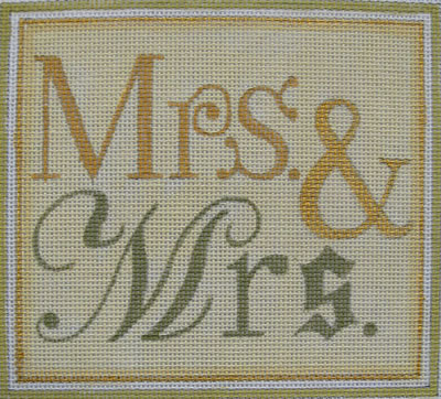 click here to view larger image of Mrs. & Mrs. (hand painted canvases)