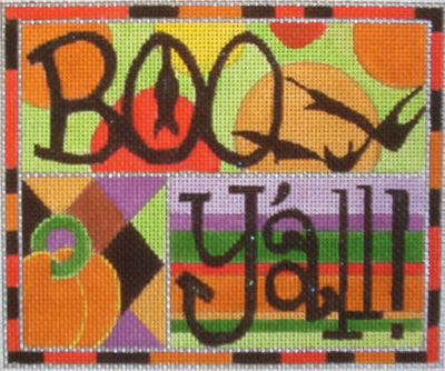 click here to view larger image of Boo Y'all ! (hand painted canvases)
