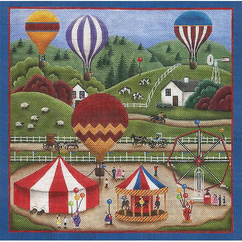 click here to view larger image of County Fair - 18ct (hand painted canvases)