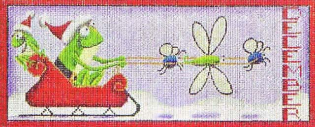click here to view larger image of December Frogs (hand painted canvases)