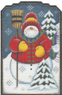 click here to view larger image of Jolly Snowman (hand painted canvases)