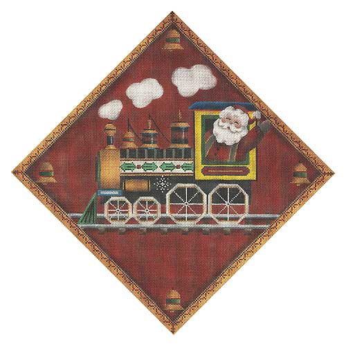 click here to view larger image of Christmas Train (hand painted canvases)