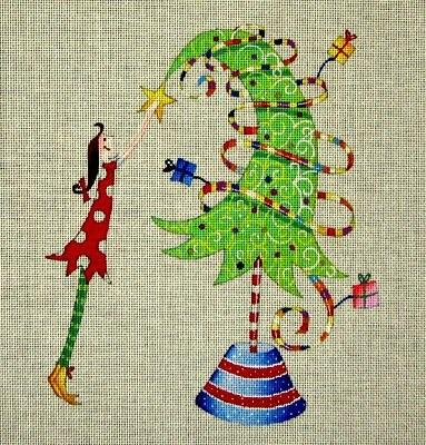 click here to view larger image of Tippy Toe Tree (hand painted canvases)