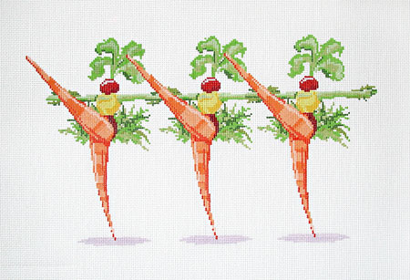 click here to view larger image of Carrot Can Can (hand painted canvases)