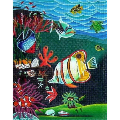 click here to view larger image of Butterfly Fish & Clown Fish (hand painted canvases)