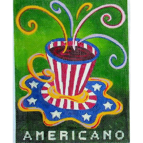 click here to view larger image of Cafe Americano (hand painted canvases)