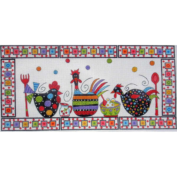 click here to view larger image of Crazy Clucks Cooking (hand painted canvases)