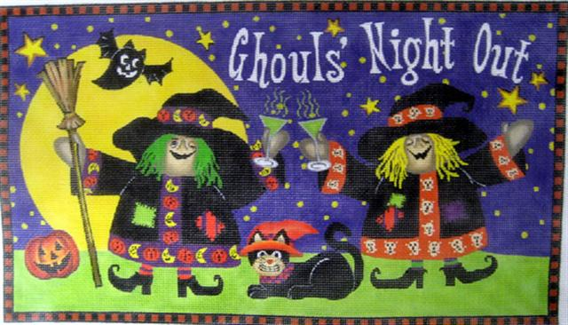 click here to view larger image of Ghouls Night Out (hand painted canvases)