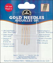 click here to view larger image of DMC Gold Tapestry Needles Size 26 (accessories)