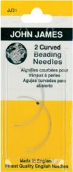 click here to view larger image of John James Curved Beading Needles  (accessories)