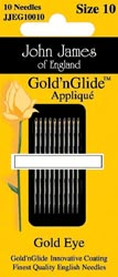 click here to view larger image of John James Gold n Glide Applique Needles (accessories)