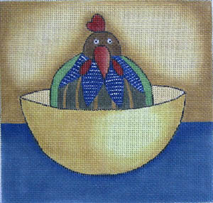 click here to view larger image of Chicken in Every Pot (hand painted canvases)