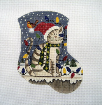 click here to view larger image of Christmas Kitty (hand painted canvases)