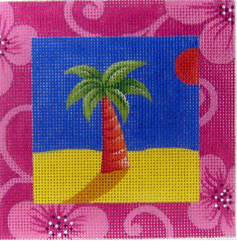 click here to view larger image of Palm Tree (hand painted canvases)