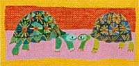 click here to view larger image of Turtles (hand painted canvases)