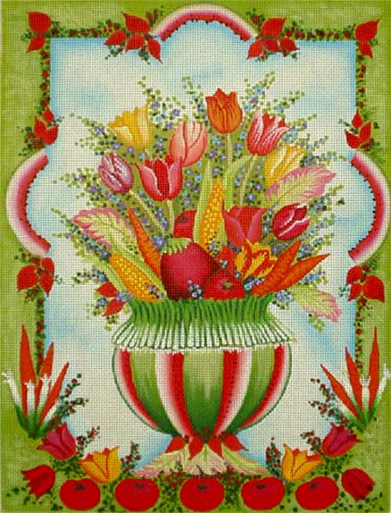 click here to view larger image of Beautiful Bouquet with Watermelon (hand painted canvases)