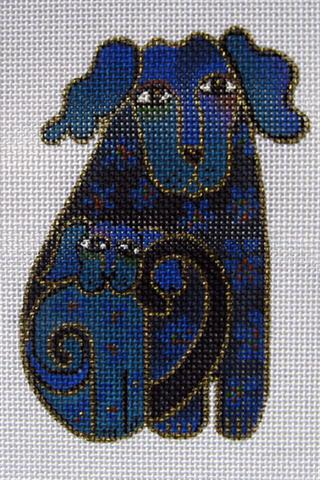 click here to view larger image of Blue Dogs (hand painted canvases)