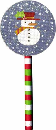 click here to view larger image of Snowman Lollipop (hand painted canvases)