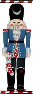 click here to view larger image of Blue Nutcracker (hand painted canvases)
