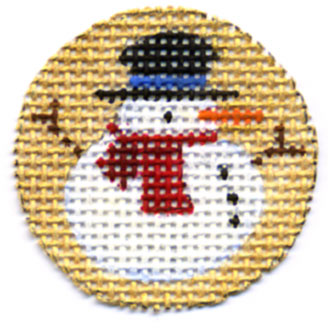 click here to view larger image of Snow Man Advent Calendar Treasure (hand painted canvases)