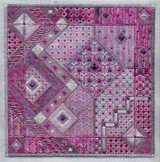 click here to view larger image of Amethyst Dreams (Includes Embellishments) (counted canvas work)