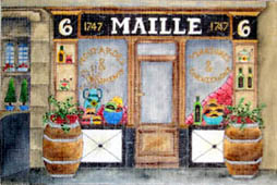 click here to view larger image of Maille - Fine Mustards (hand painted canvases)