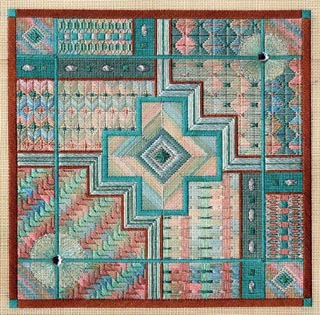 click here to view larger image of Turquoise Trail (Includes Embellishments) (counted canvas work)