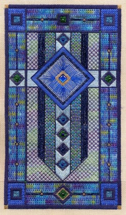 click here to view larger image of Sapphire Star (Includes Embellishments) (counted canvas work)