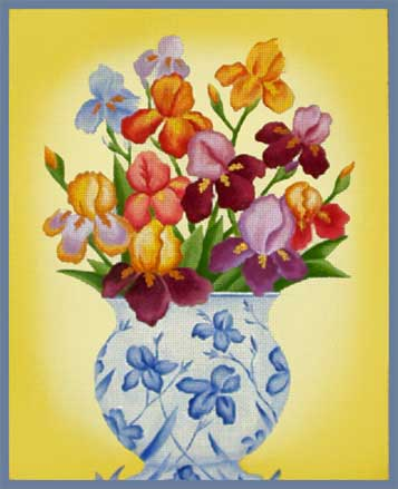 click here to view larger image of French Iris (hand painted canvases)