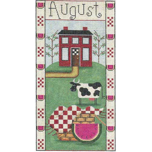 click here to view larger image of August Folk Banner (hand painted canvases)