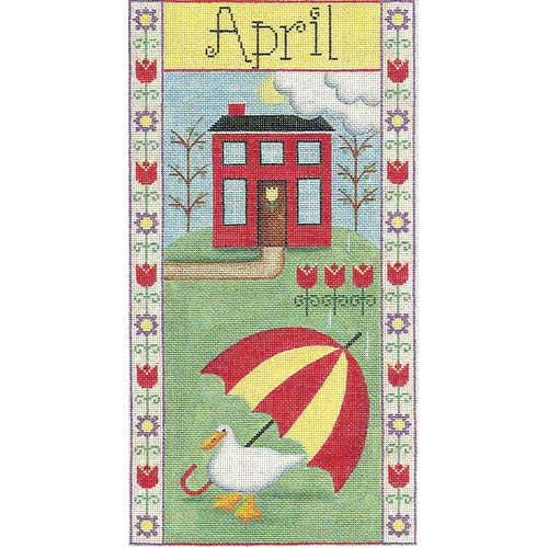 click here to view larger image of April Folk Banner (hand painted canvases)