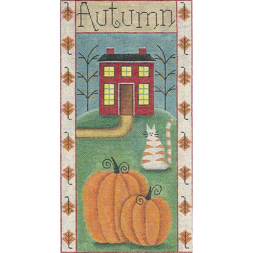 click here to view larger image of Autumn Folk Banner (hand painted canvases)