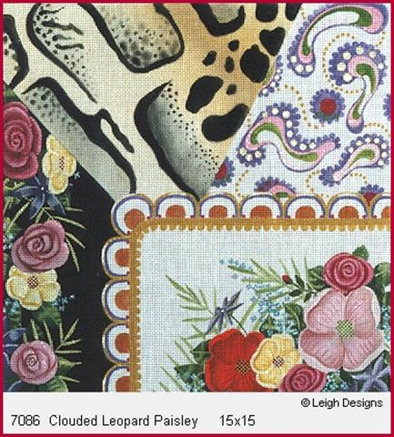 click here to view larger image of Clouded Leopard Paisley (hand painted canvases)