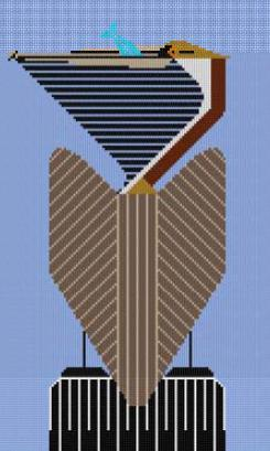 click here to view larger image of Brown Pelican (hand painted canvases)