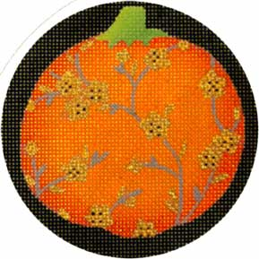 click here to view larger image of Fancy Pumpkins - Orange Plum Blossom (hand painted canvases)
