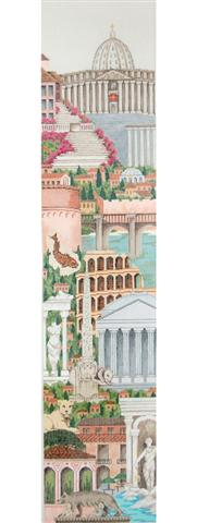 click here to view larger image of Bell Pull - Rome (hand painted canvases)