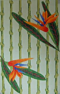 click here to view larger image of Purse - Bird of Paradise (hand painted canvases)