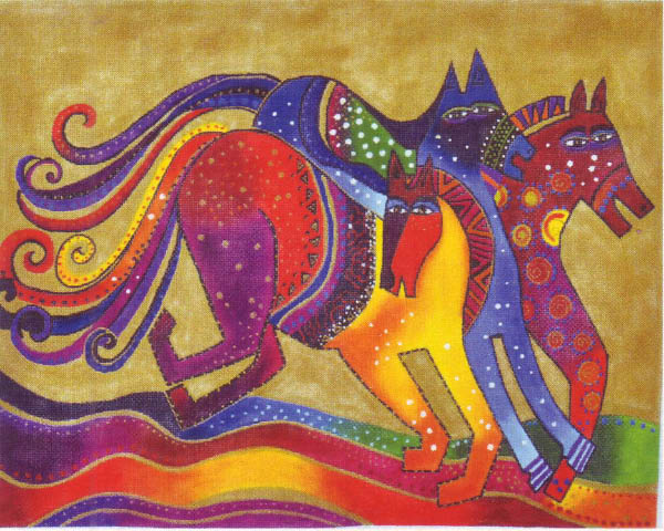 click here to view larger image of Dancing Horses (hand painted canvases)