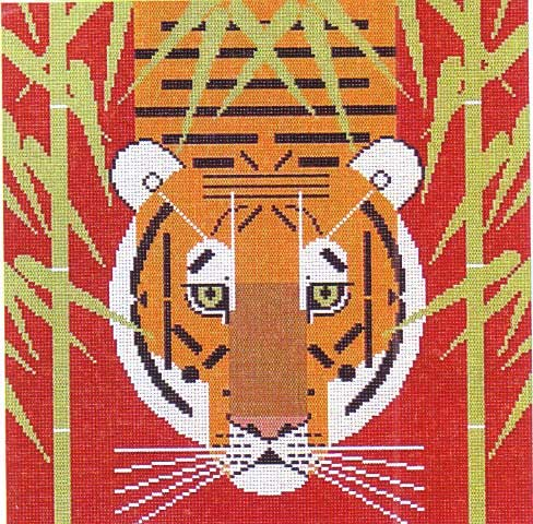 click here to view larger image of Asian Tiger (hand painted canvases)