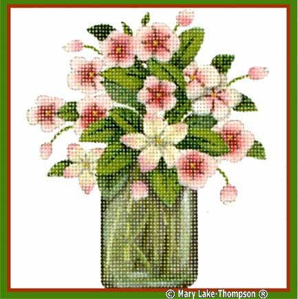click here to view larger image of Bouquet Pink (hand painted canvases)